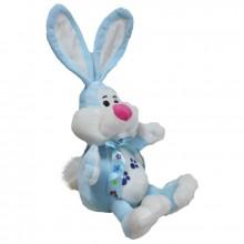 Кролик с бантом (М) 25см