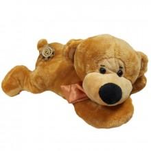 Медведь лежачий с бантом (С) 38см