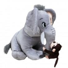 Слон с мартышкой 30см